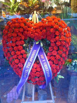 Corazón Claveles Rojos